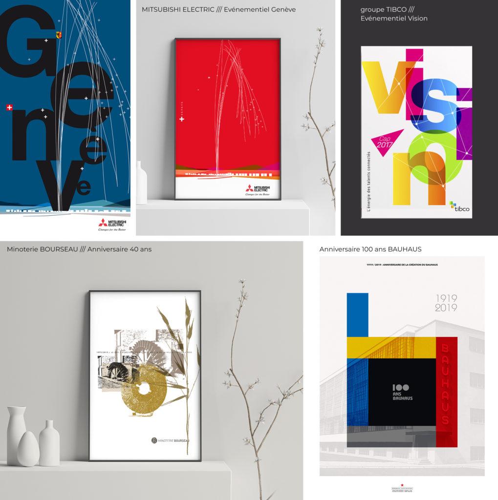 affiche de communication, événementielle et d'édition